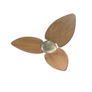 Ventilador de Teto Volare Dunamis Office 127v10,5uF Gold Chave 3Velocidades - 3Pás MDF Radica Frejo - c/Acabamento Cego SEM Luminária