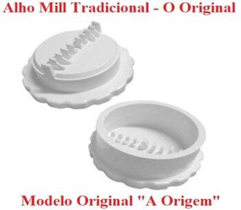 Amassador de Alho Manual Alho Mill Tradicional Original Branco - Triturador De Alho Alho-Mill Manual - *Produto Original
