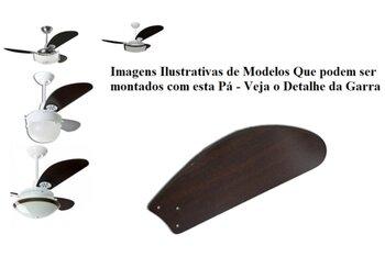 Pá Hélice para Ventilador de Teto Loren Sid M1 / M2 Garra Maior - Modelo Tubarão Fly MDF Tabaco - COM Furação p/Loren Sid - *Vendida p/Unidade
