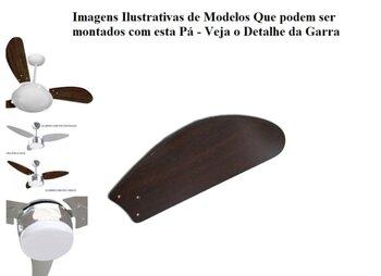 Pá Hélice para Ventilador de Teto Ventisol FÊNIX Ventisol SUNNY Ventisol ANA MARIA - Modelo Tubarão Fly MDF cor Tabaco - *Vendida p/Unidade