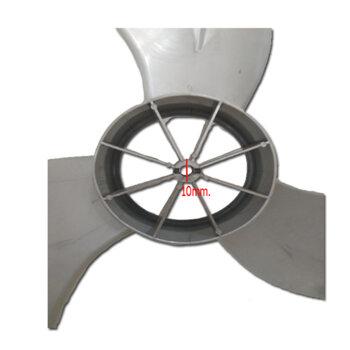 Hélice para Ventilador Arge 60cm Max A-10 Atual - 3Pás Prata - Encaixe Ponta Redonda Eixo 10,0mm c/Trava Traseira - Hélice Ventilador Arge Max
