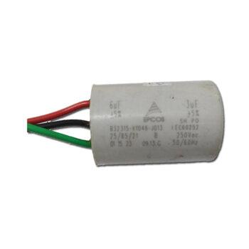Capacitor para Ventilador de Teto Aliseu SMART 127v 09,0uF 3,0+6,0mF 250Vac 3Fios - Capacitor para Ventilador Spirit 127V 3Velocidades
