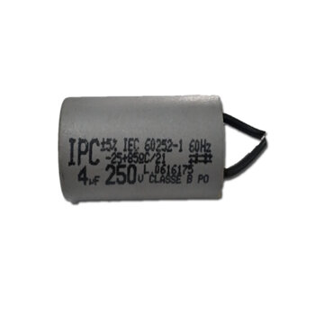 Capacitor para Ventilador de Teto Tron 220Volts 04,0uF 2Fios 250Vac - Loren Sid, Volare, Venti-Delta, Arge, etc. CAP004,0
