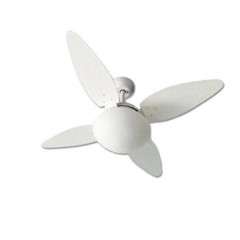 Ventilador de Teto Volare Londres 127v10,5uF Branco 4Pas MDF Ratan Palmae Folha Branca Luminária VR42 P/2 Lâmpadas Chave 3Velocidades
