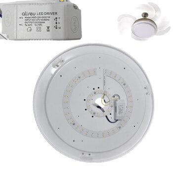 Plafon com Placa de Led para Luminária do Ventilador Aliseu Retrátil Inspire 127Volts - LED24/48W Driver Model NBD-(24+24)X1W