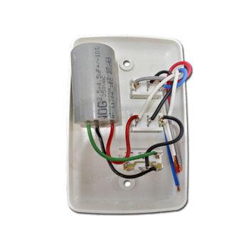 Chave Ventilador de Teto 3V 127v Liga 1 Lampada 07,0Uf (2,5+4,5) - ALISEU TERRAL - Controle de Pared