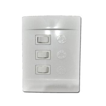 Chave para Ventilador de Teto Aliseu Plus c/Bluetooth - Duo Geo Jet Slim Smart Terral Wave 127Volts - Espelho Tipo A c/3Velocidades R1L - S/CAPACITOR