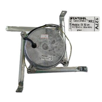 Motor para Exaustor Ventisol 50cm 127V10,0uF 150W 50/60hz c/4 Suportes - Motor com Eixo 12,0mm Mod. EX 50 CM - Classe Cimatica T MR1