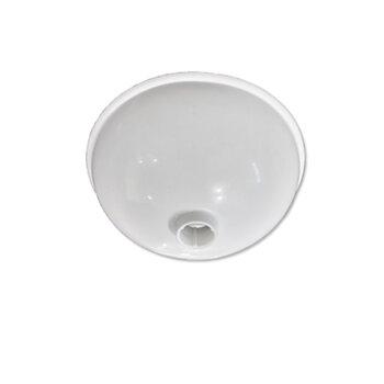 Canopla Plástica Superior para Ventilador de Teto Venti-Delta Branco - Diâmetro 16cm - Loren Sid - Arge - Tron - Ventisol - Etc...