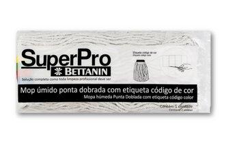 Refil Mop Úmido Ponta Dobrada - 340Gramas - Refil Rodo Esfregão Cabeleira - Encaixe 17,50CM - SuperPro Bettanin REF.SP9111P