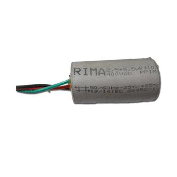 Capacitor para Ventilador de Teto Latina 127V 08,0uF 3Fios 2,5+5,5mF Ventilador Lumen Latina Air Latina VT633 VT673 VT675 de 3 Velocidades