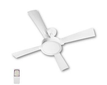 Ventilador de Teto Venti-Delta Magnifico 127v09,0uF 150W Branco K2 4Pás Luminária LED24W Redonda 6000K Controle Remoto Total - Consumo A