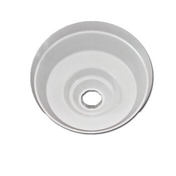 Canopla Plástica Superior para Ventilador de Teto Loren Sid Branco - Diâmetro 00,00cm - Loren Sid - Arge - Tron - Ventisol - Venti-Delta, Etc...