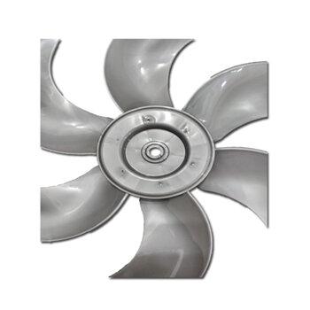 Helice para Ventilador TRON 50cm Premium 6Pás Prata Modelo Atual 2020/2021 - Ponta Redonda Encaixe em Eixo 10,0mm c/Trava Traseira