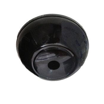Canopla Plástica Superior para Ventilador de Teto TRON Preto - Diâmetro 16cm - Serve para Venti-Delta - Loren Sid - Arge - Ventisol - Etc...
