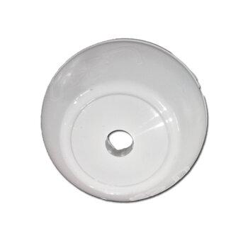 Canopla Plástica Superior para Ventilador de Teto TRON Branco - Diâmetro 16cm - Serve para Venti-Delta - Loren Sid - Arge - Ventisol - Etc...