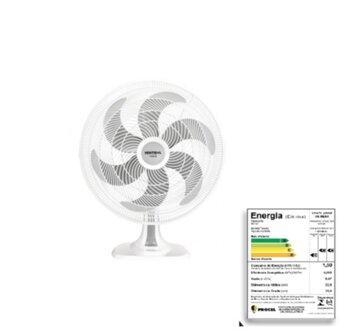Ventilador de Mesa 30cm Ventisol Turbo 6Pás 127v 80w Branco Helice 6Pas Cinza - Controle de Velocidade - Ventilador se Adapta p/Parede