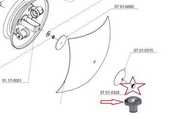 Porca de Acabamento Cromada para Fixação do Vidro da Luminária Ventilador Tron Boreas - Quadrimax - Guaruja Max Cromado