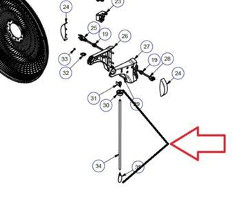 Haste da Chave para Ventilador Dômina Patice - Haste que aciona a Chave Controle de Velocidade em Ventiladores Dômina Practice Cor: Prata