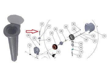 Pino Puxador do Oscilante do Ventilador Dômina - cor Titanium - Pino do Oscilador
