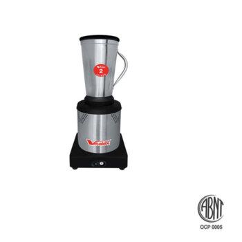 Liquidificador Industrial de Baixa Rotação - Viltalex Vita Inox 2,0 Litros Bivolts 680w/Consumo 840Watts/Potência - Liquidificador Vitalex de Baixa Ro