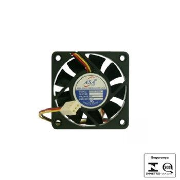 Exaustor Microventilador 06cm 24Volts - Cooler Asafan 60X60X25mm 24V Mini Fan 6025B-24V