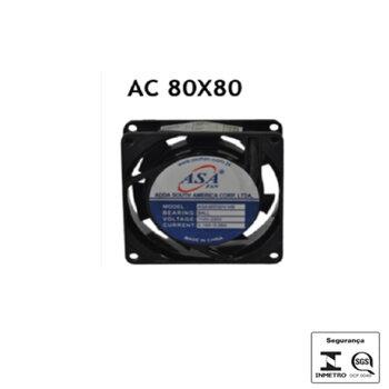 Exaustor Microventilador 08cm Bivolts - Cooler Asafan 8038B 80x80x38 Cooler Micro Exaustor 08cm Bivolt - EXA08 EXAA