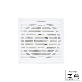 Exaustor para Banheiro - Diâmetro 20cm Vazão 570m3/h p/Até 48m2 - ITC 200mm 127v 55w 570m3/h - Exaustor ITC Catarina Branco - OCP-003