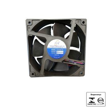 Exaustor Microventilador 12cm 24Volts - Cooler Asafan Axial 12038B-24 120x120x38mm