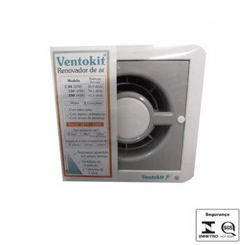 Exaustor para Banheiro e Ambientes até 05m2 - Diâmetro 10cm Renovador de ar VentoKit C80A Aquarela 100mm Bivolts Vazão 080m3h