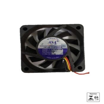 Exaustor Microventilador 06cm 12Volts - Cooler Asafan - 60x60x15 12v 0.16A - ASA0612UB-D72-GL EXA06 EXAASAFA