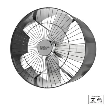 Exaustor de 50cm Loren Sid Bivolts 110/220v Monofásico - Vazão 6.000m3/h - c/Chave de Reversão - Exaustor Comercial cor Cinza Motor Bivolts