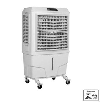 Climatizador de Ar Evaporativo Portátil 100Litros 127v350w MWM M9000 Vazão Real 9.000m3/h - p/Área Áte 90m2 - Painel Digital Controle 3Velocidades