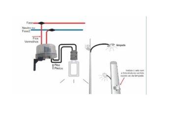 Sensor Relê Fotocélula Bivolts com Suporte Base para Fixação - Ilumi 5609
