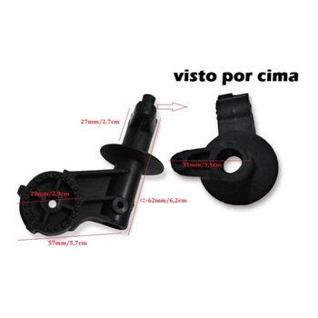 Mecanismo do Oscilante Suporte do Motor Ventilador Ventisol 40/50/60cm Preto - Suporte de Oscilação Ventilador Ventisol Parede Coluna Mesa