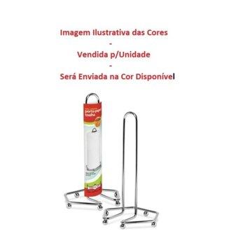 Suporte para Rolo Papel Toalha - Porta Papel Toalha em Aço Cromado - Suporte de Metal Cromado para Papel Toalha - Unidade