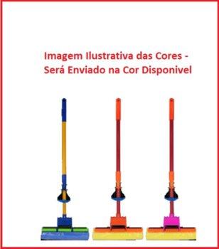Rodo Mágico Mop Úmido para Limpeza Fácil e Rápida - MOP Zig Zag c/Alavanca e Cabo de Madeira 95cm - SEM Regulagem de Altura