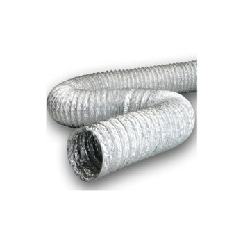 Duto Flexível de Alumínio 50cm para Exaustores - Tubo Flexível 500mm 20 ALUDEC 6020 - *Vendido p/Metro