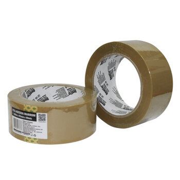 Fita Adesiva para Embalagens 100MTX45mm 45mic - Fita de Embalar - Fita Marrom