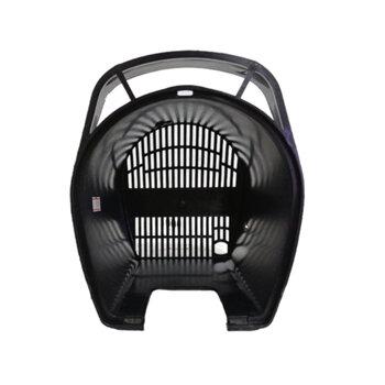 Capacete do Motor do Ventilador Dômina 50/60cm Preto - Capa Plástica do Motor cor Preta