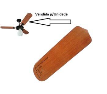 Pá Hélice para Ventilador de Teto Loren Sid Motor M1/M2 - MDF Reta cor Mogno - Espessura 3,0mm L13,0xC41,0cm - p/Garra Maior c/3 Furos