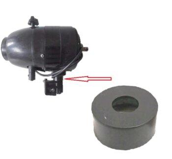 Bucha Plástica do Eixo do Ventilador Ventisilva - Anel Calço do Mecanismo Suporte do Motor com a Tampa Central do Motor Preta