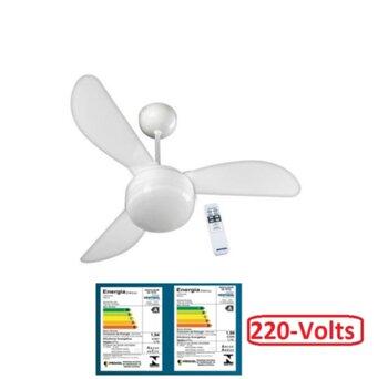 Ventilador de Teto Ventisol Fenix Premium 220v Branco 3Pás ABS - Controle Remoto 3Velocidades - Ventilador Ventisol com Controle Remoto Total