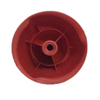 Porca da Hélice Ventilador Ventisol Modelo Power70 / Power 70m - Bico Vermelho com Rosca Esquerda para Eixo 08,0mm