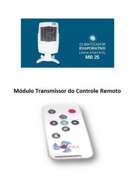 Módulo Transmissor do Controle Remoto Bivolts para Climatizador Mega Brisa MB25 MB-25 MB 25 - * Apenas o Transmissor Manual*