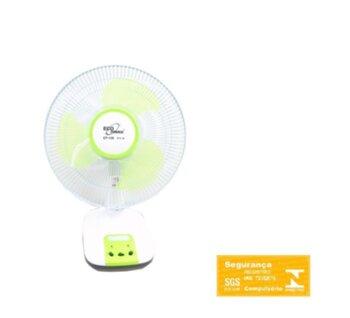 Ventilador de Mesa 30cm Eco Power EP-109 Oscilante Bivolts e Bateria Azul - Hélice 3Pás c/Luz LED - Ventilador Recarregável