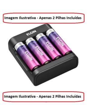 Carregador de Pilhas AA / AAA Elgin SCUSB Compatível AA/AAA - Carregador de  Baterias 9v