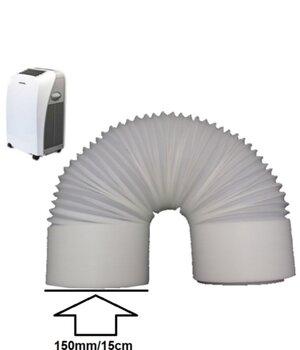 Duto Flexível de Plástico Diâmetro 15cm para Ar Condicionado Portátil Ventisol Agratto - Medida 1,90 Metros Tubo PVC 150mm - Peça Inteira *SALDÃO