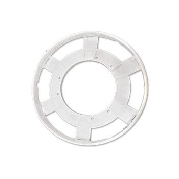 Anel Centralizador do Vidro da Luminária do Ventilador Aliseu Terral - cor Branca - Ref.Original 001091