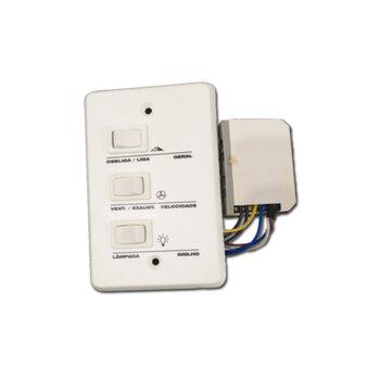 Chave para Ventilador de Teto 127v - Controle VentiFácil Plus para Ventilador Aliseu 3Velocidades 127v p/Lâmpada Incandescente - Instalação Apenas c/F
